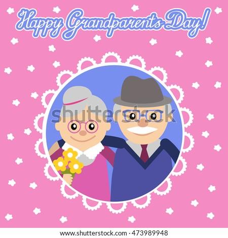 Greeting card grandparents day senior people stock vector royalty greeting card for grandparents day senior people illustration m4hsunfo