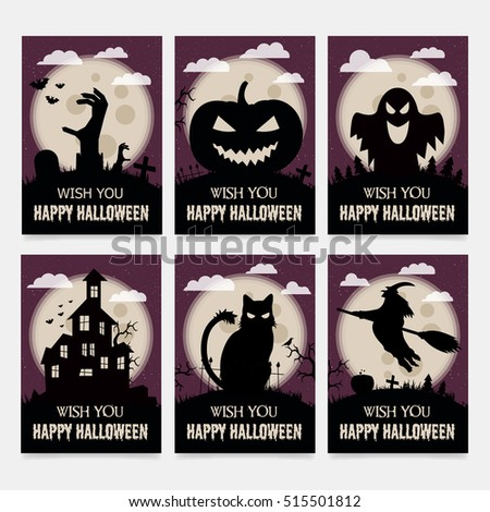 Greeting card halloween gift cards all stock vector royalty free greeting card for halloween gift cards for all saints day m4hsunfo