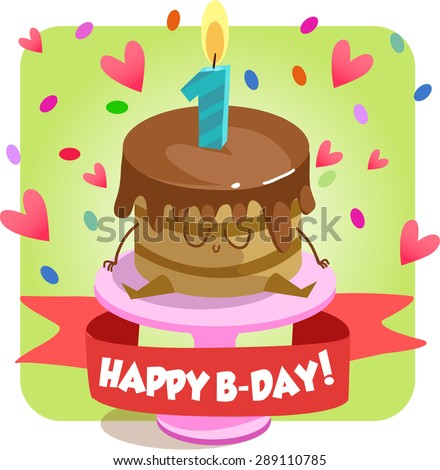 Greeting Card Happy Birthday Jolly Good Stock Vector Royalty Free