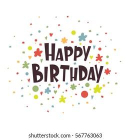 Greeting card Happy Birthday. Vector illustration