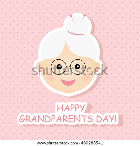 Greeting card happy grandparents day vector stock vector royalty greeting card for happy grandparents day vector illustration m4hsunfo