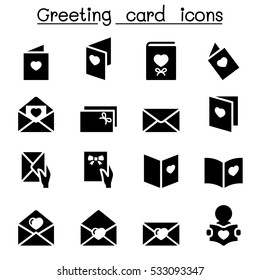Greeting card logo images stock photos vectors shutterstock greeting card icon set m4hsunfo