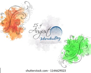 Greeting card for the Independence Day of India. 15th of August.