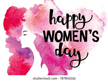 Greeting card for International Women's Day. 8 March