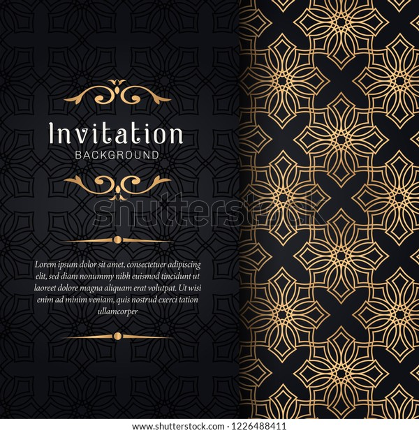 Greeting Card Invitation Lace Floral Ornaments Stock Vector