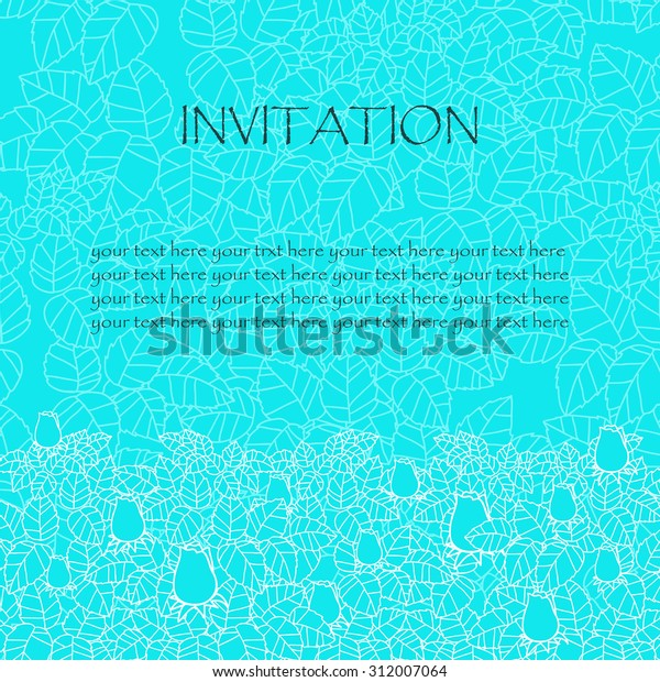 Greeting Card Invitation Rose Leaves Lace Stock Vector