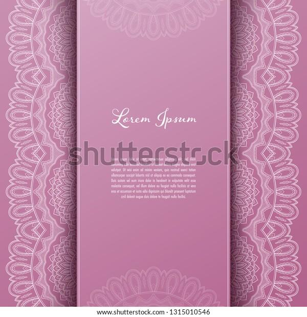 Greeting Card Invitation Template Filigree Lace Stock Image