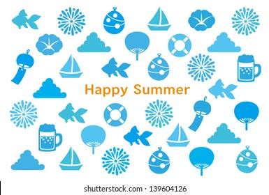 greeting card of Japanese summer.