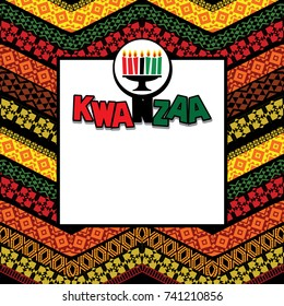 Greeting card for Kwanzaa. Vector illustration. Happy Kwanzaa decorative greeting card. seven kwanzaa candles in vector. Happy Kwanzaa decorative greeting card.