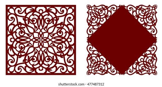 greeting card, laser cut pattern