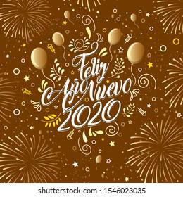 Greeting Card Message Feliz Ano Nuevo Stock Vector Royalty Free 1546023035 É hora de receber o ano novo com alegria e esperança no coração. greeting card message feliz ano nuevo