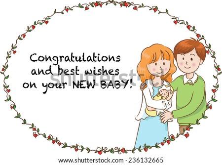 Greeting card new born baby stock vector royalty free 236132665 greeting card for new born baby m4hsunfo