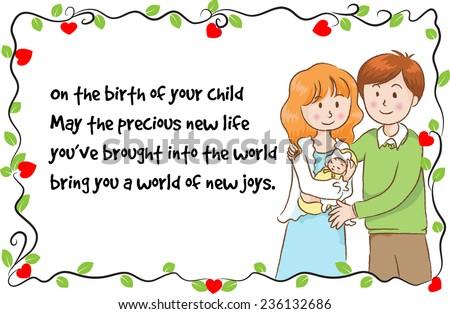 Greeting card new born baby stock vector royalty free 236132686 greeting card for new born baby m4hsunfo