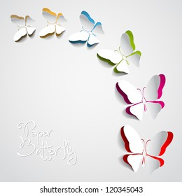 Greeting card design images stock photos vectors shutterstock greeting card with paper butterflies vector m4hsunfo