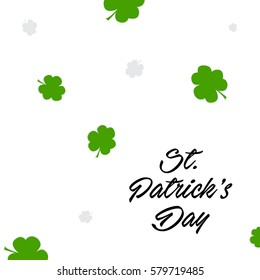 Greeting card for St. Patrick's Day, EPS10