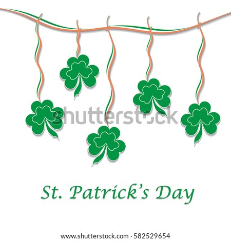greeting card st patricks day clover stock vector royalty free