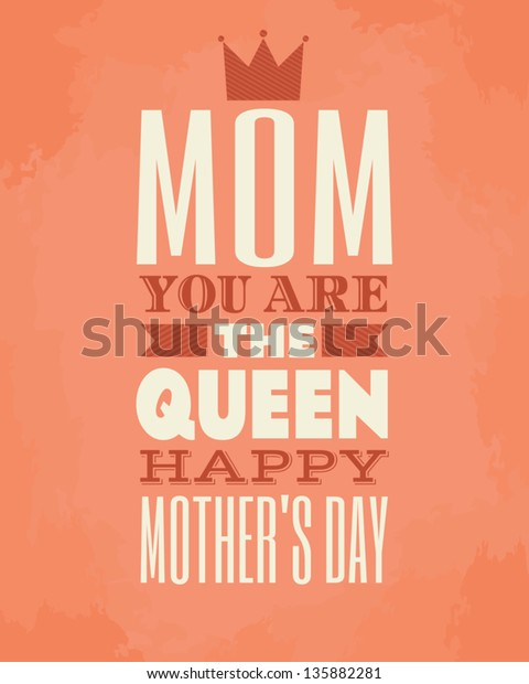 Greeting card template for Mother's Day.