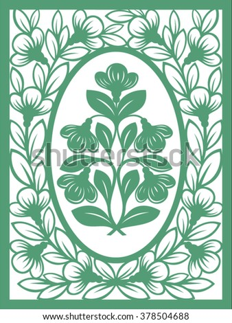 greeting card template paper cutting style stock vector royalty