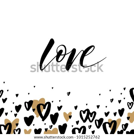 Greeting card template word love valentines stock vector royalty greeting card template with the word love valentines day greeting card in modern style m4hsunfo