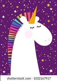 Greeting card with unicorn