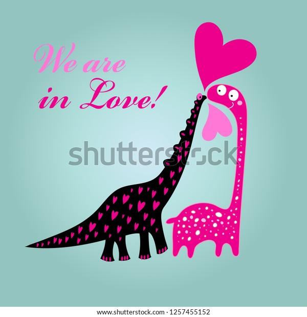 Vector De Stock Libre De Regalias Sobre Tarjeta De Saludo A La Tarjeta1257455152 Hay dinosaurios feroces, dinosaurios gigantes, dinosaurios marinos, monstruos marinos prehistoricos, nuevos dinosaurios y mas. https www shutterstock com es image vector greeting card valentines day dinosaurs love 1257455152