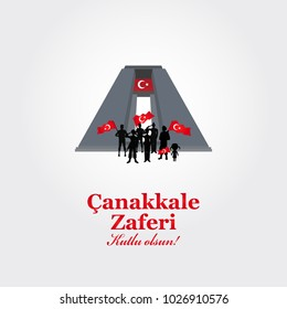 Greeting card to the victory day near Canakkale. translation: victory of Canakkale, happy holiday. March 18