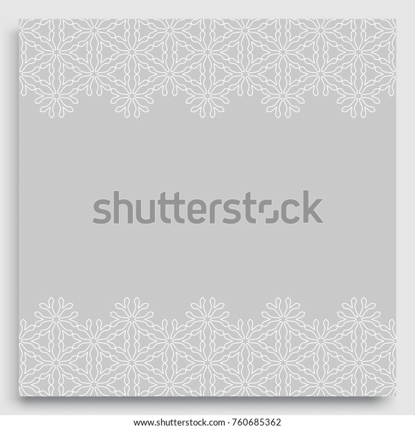 Greeting Card Wedding Invitation Template Lace Stock Vector Royalty