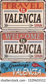 Greeting card Welcome from Valencia Spain, for print or web, authentic looking souvenir.