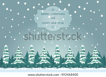 Greeting cards background images snow trees stock vector royalty greeting cards background images of snow and trees m4hsunfo