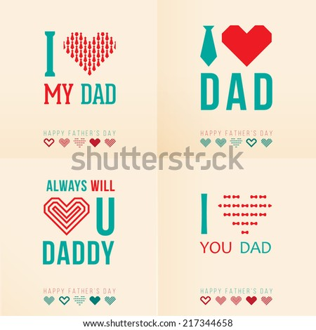 Greeting cards happy fathers day stock vector royalty free greeting cards for happy fathers day m4hsunfo