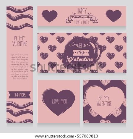 Greeting Cards Valentines Day Invitation Valentines Stock