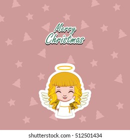 Greeting of a cute angel waving hello