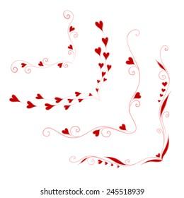 Greeting frame for valentine's day. Vector illustration.