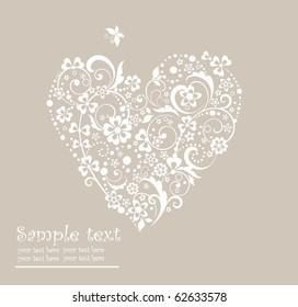 Greeting heart shape