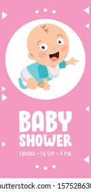 Greeting Invitation Card For Baby Shower Event