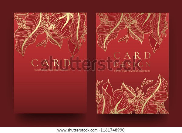 Greeting Invitation Card Template Stylish Vintage Stock Vector ...