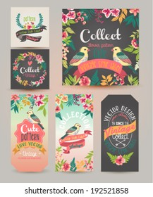 greeting card?romantic labels with flower