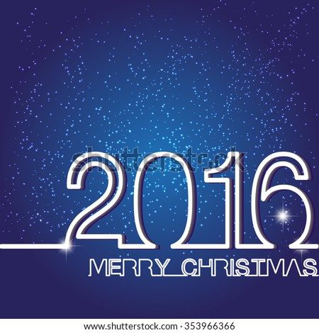 Greeting message merry christmas xmas 2016 stock vector royalty greeting message merry christmas xmas 2016 creative outline flat stylish design white numbers m4hsunfo