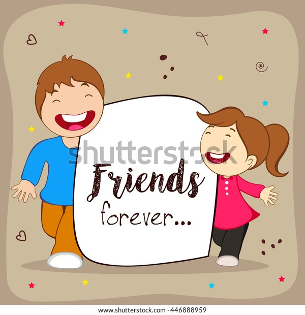 Greeting Poster Flyer Card Happy Friendship Stock Vector Royalty Free 446888959