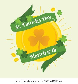 Greeting ST Patrick's Day with Coin