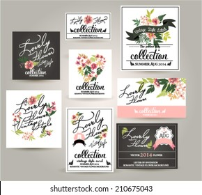 greeting wedding card,romantic labels with flower