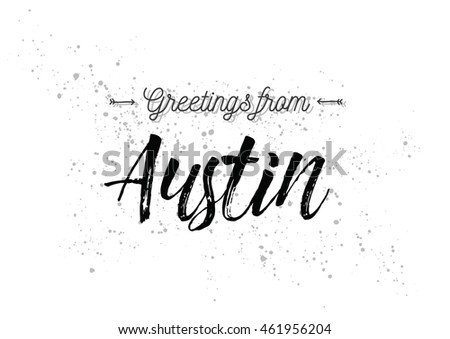 Greetings austin usa greeting card typography stock vector royalty greetings from austin usa greeting card with typography lettering design hand drawn m4hsunfo