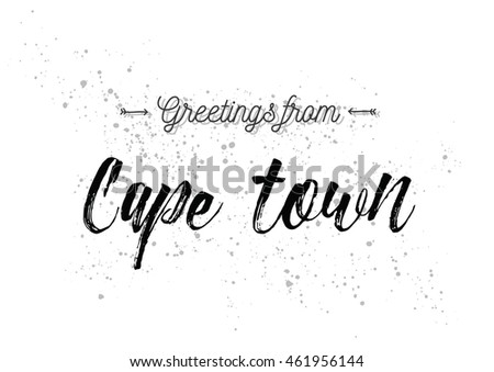 Greetings cape town south africa greeting stock vector royalty free greetings from cape town south africa greeting card with typography lettering design m4hsunfo