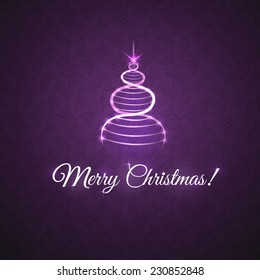 greetings with Christmas, card with Christmas tree in the form of DNA, the scientific background congratulation