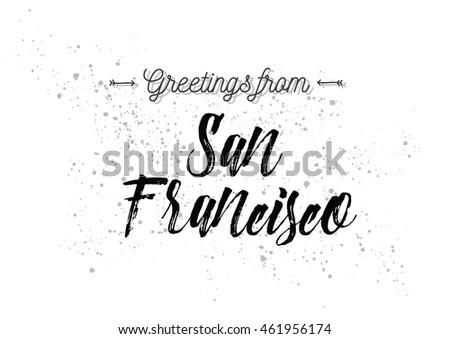 Greetings san francisco usa greeting card stock vector royalty free greetings from san francisco usa greeting card with typography lettering design hand m4hsunfo