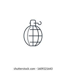 grenade creative icon. From War icons collection. Isolated grenade sign on white background