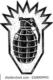 Grenade - Danger vector design illustration