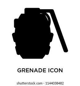 Grenade icon vector isolated on white background for your web and mobile app design, Grenade logo concept