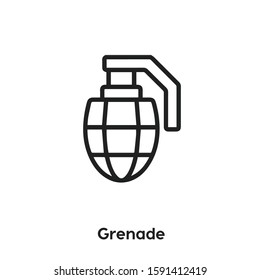 grenade vector line icon. Simple element illustration. grenade icon for your design. Can be used for web and mobile.