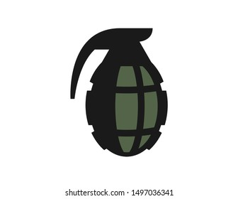 Grenades logo design vector. grenade symbol design template. grenade line art logo design